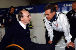 Frank Williams and Dr Mario Theissen