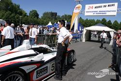 Audi Sport Japan Team Goh Audi R8 enters scrutineering area