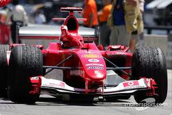 Ganador de la carrera que Michael Schumacher celebra