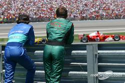 Christian Klien and Felipe Massa