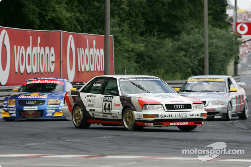 Audi parade: former Head of Audi Sport Dieter Basche in the 1990 Audi V8 quattro