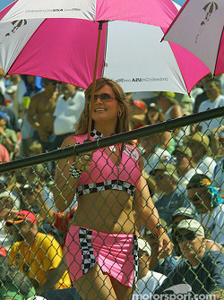 A lovely umbrella girl