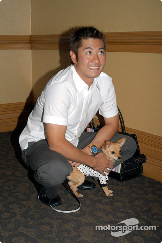 Roger Yasukawa with his dog Pete