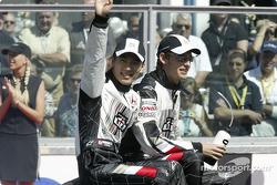 Drivers parade: Takuma Sato and Jenson Button