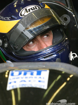 David Brabham waits in the car during a pitstop
