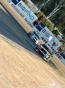 Paul Radisich and Mark Winterbottom in the middle of the field