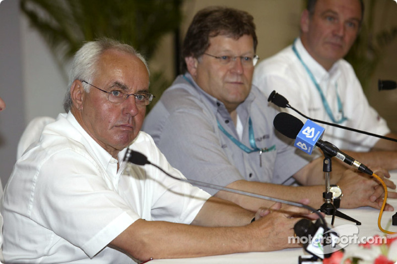 Press conference: ITR President Hans Werner Aufrecht, Norbert Haug and Dr Wolfgang Ullrich
