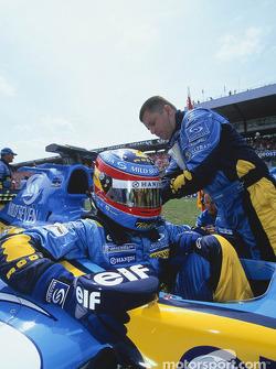 Fernando Alonso on the starting grid