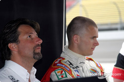 Michael Andretti and Dan Wheldon