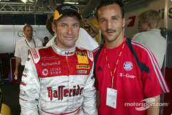 FC Bayern München players visits the DTM: Tom Kristensen