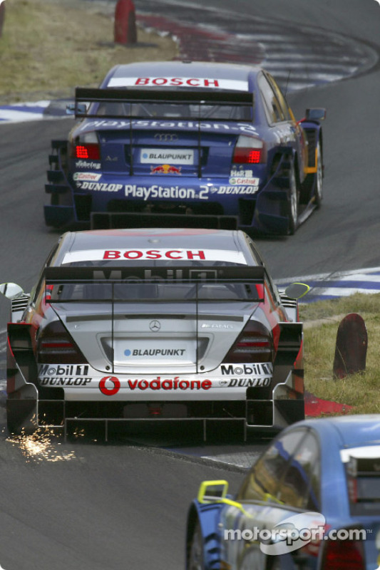 Mattias Ekström, Team Abt Sportsline, Audi A4 DTM 2004; Bernd Schneider, Team HWA, AMG-Mercedes C-Kl