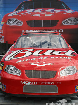 Dale Earnhardt Jr. car on display