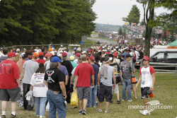 Fans before the race