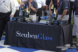 Steuben Glass made the trophies