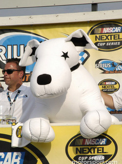 The Sirius stuffed dog makes an appearance