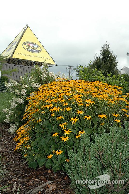 Décorations florales au Watkins Glen International