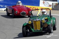 #55 1951 MG-TD, Karim Marouf, #91 1952 OSCA MT-4, Bill Perrone