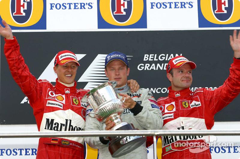 2004: 1. Кими Райкконен, 2. Михаэль Шумахер, 3. Рубенс Баррикелло