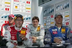 Timo Scheider, Christian Abt, Gary Paffett and Manuel Reuter watch single car qualifying