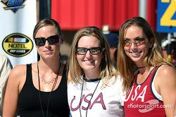 United States Olympian Gold Medla winners Amanda Beard, Leah O'Brien-Amico and Kim Rhode