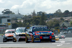 Marcos Ambrose out in front at the re-start
