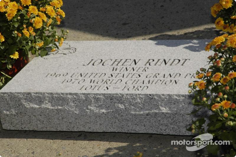 Rindt tem o nome eternizado na 'Calçada da Fama' do circuito de Watkins Glen, palco da primeira vitória na F1.