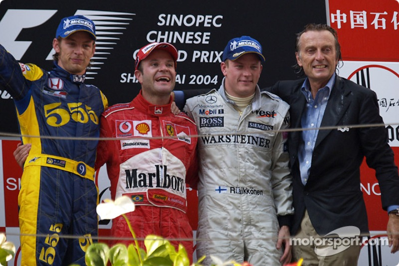2004: 1. Rubens Barrichello, 2. Jenson Button, 3. Kimi Räikkönen