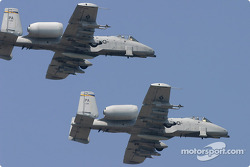 Flyover by a pair of Warthogs