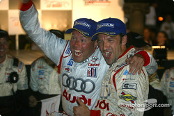 Race winners Marco Werner and JJ Lehto celebrate