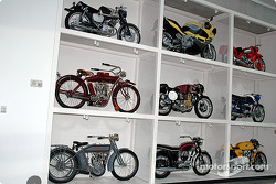 Wall of motorcycles