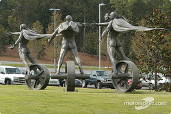 Sculptures at entrance