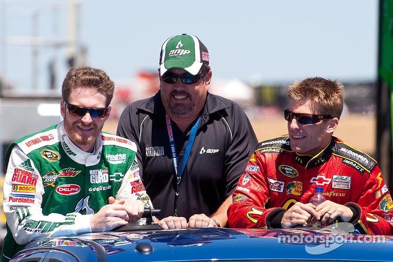 Dale Earnhardt Jr., Hendrick Motorsports Chevrolet en Jamie McMurray, Earnhardt Ganassi Racing Chevr