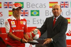 Emilio Botin, chairman of Banco Santander and Fernando Alonso, Scuderia Ferrari