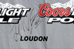 poleman Juan Pablo Montoya, Earnhardt Ganassi Racing Chevrolet, signature