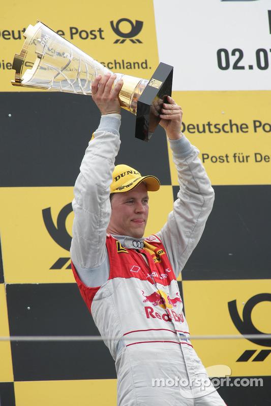 Podium: 2de Mattias Ekström, Audi Sport Team Abt Audi A4 DTM