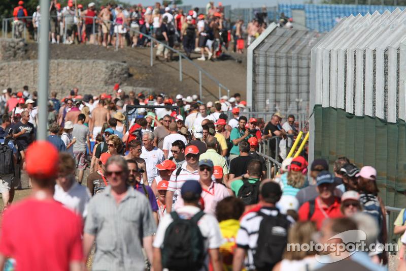 Publiek bij Silverstone