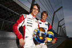 Esteban Gutierrez and Nico Muller, winners of races 5 and 6 in the GP3 series in Valencia