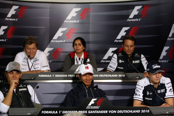 Nico Rosberg, Mercedes GP, Norbert Haug, Mercedes, Chef du Sport automobile, Monisha Kaltenborn, Managing director BMW sauber F1 Team, Kamui Kobayashi, BMW Sauber F1 Team, Adam Parr, Williams F1 Team, Nico Hulkenberg, Williams F1 Team