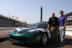 Jimmie Johnson, Hendrick Motorsports Chevrolet with the 2010 Brickyard 400 Corvette pace car