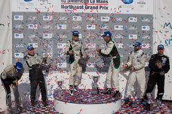 PC klasse podium: winnaars Gunnar Jeannette en Elton Julian, 2de Alex Figge en Tom Papadopoulos, 3de Scott Tucker en Andy Wallace