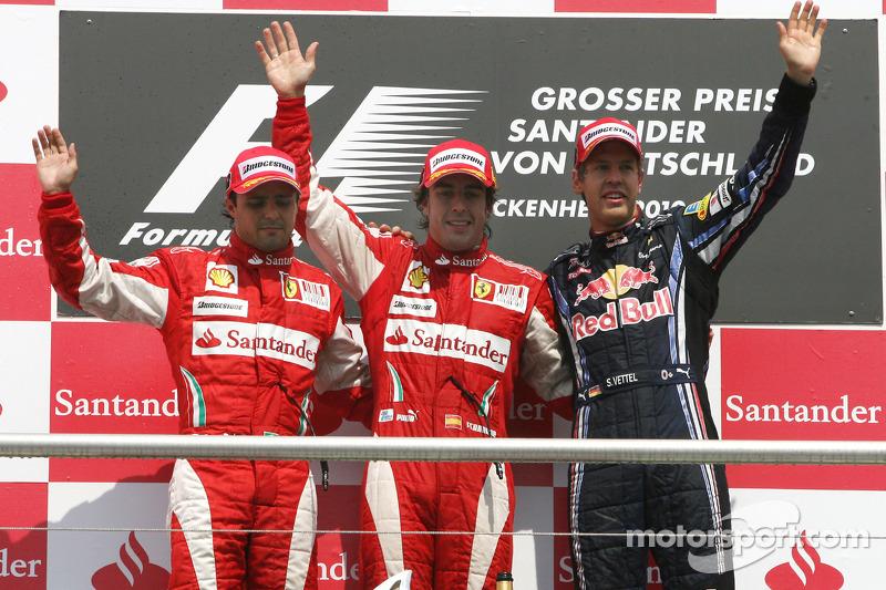 Fernando Alonso y Felipe Massa, GP de Alemania 2010