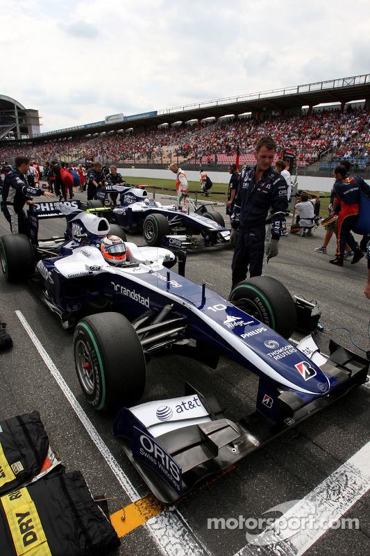 Nico Hulkenberg, Williams F1 Team en Rubens Barrichello, Williams F1 Team