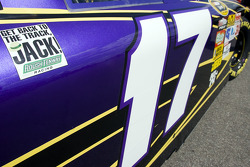 Message to Jack Roush on the car of Matt Kenseth, Roush Fenway Racing Ford