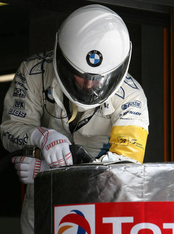 BMW Motorsport refueler at work