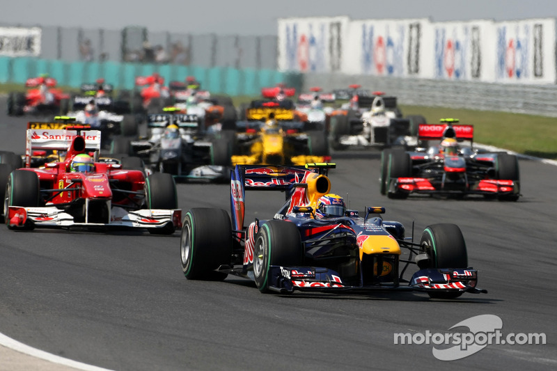 Départ : Mark Webber, Red Bull Racing