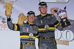GT podium: class winners James Gue and Leh Keen