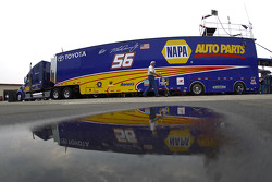 The hauler of Martin Truex Jr.