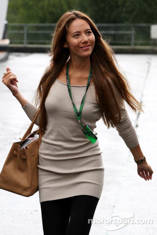 Jessica Michibata girlfriend of Jenson Button at Belgian GP