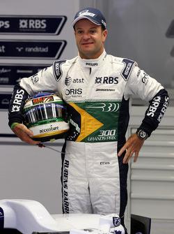 Rubens Barrichello, Williams F1 Team celebrates 300GP