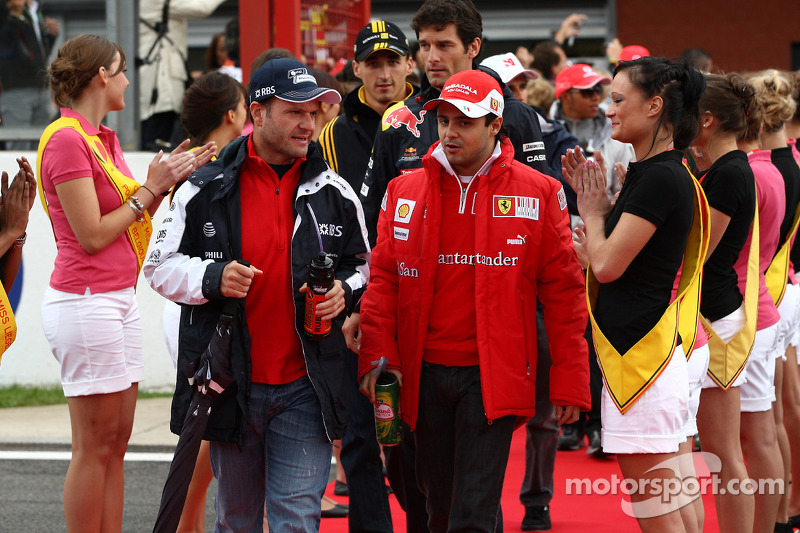 Rubens Barrichello, Williams F1 Team en Felipe Massa, Scuderia Ferrari